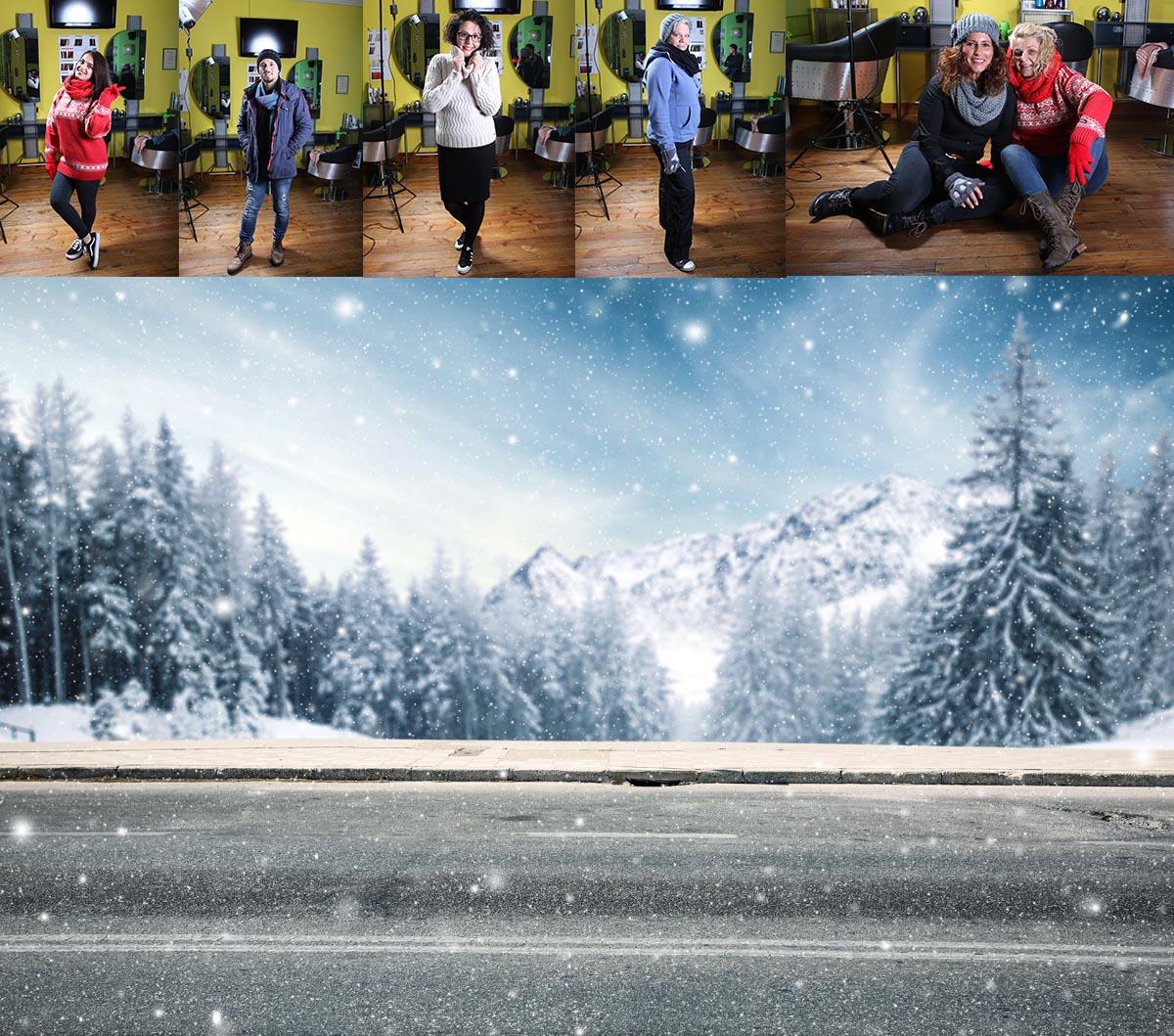 Hendrich - Design & Fotografie Duisburg - Haar2O Weihnachtscomposing Spezial Vorher